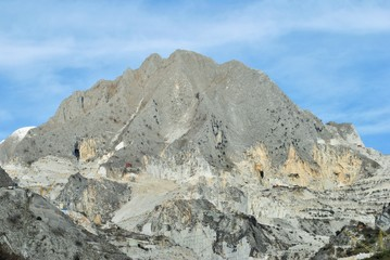 Mountain quarries of the Apuan Alps
