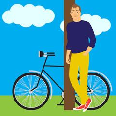 boy and bike