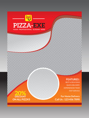 abstract pizza flyer template