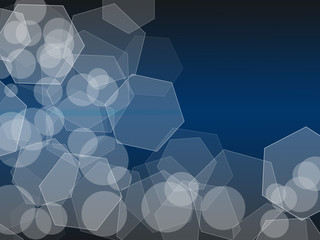 Shapes on a Blue and black gradient background