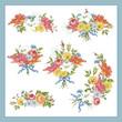 Set of Baroque Bouquet Wildflowers