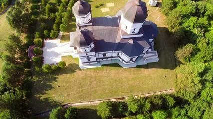 Celic Dere monastery aerial view, Dobrogea-Romania