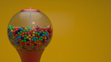 Şekerli Sakız Makinası - Gumball Machine