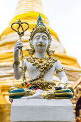 Thai angels statue in Temple