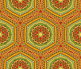 Cheerful Tribal Seamless Pattern