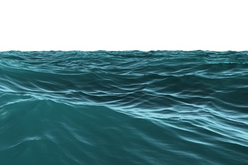 Digitally generated Blue rough sea