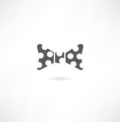 vector bow tie black symbols