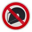 port du casque intégral interdit