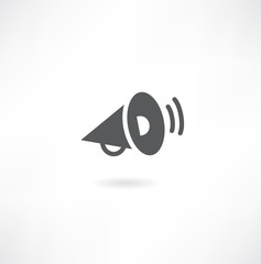 Loudspeaker icon, vector.