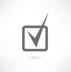 Grey checkmark