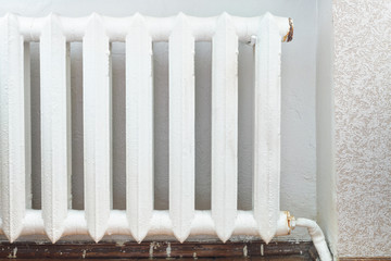 iron radiator of water heating in home