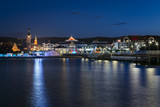 Nocny widok na historyczne miasto Sopot w Polsce