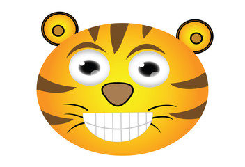cartoon tiger head