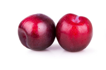 two ripe plums
