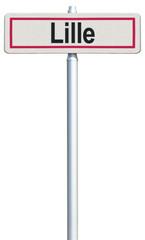 Lille, panneau entrée de ville