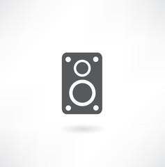 Audio speaker icon, vector