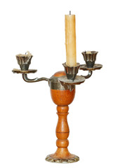 triple candlestick with one candle isolated