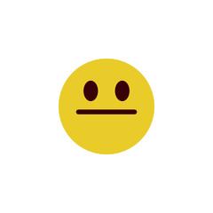 Stare flat emoji