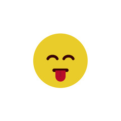 Cheerful flat emoji