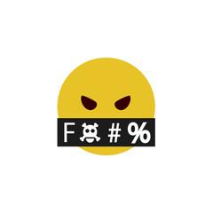 Abusive flat emoji