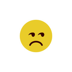 Upset flat emoji