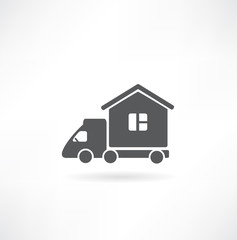 Motorhome car icon. Vector illustration.