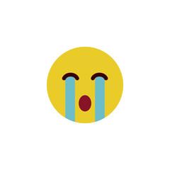 Crying flat emoji