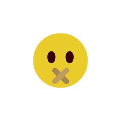 Quiet flat emoji