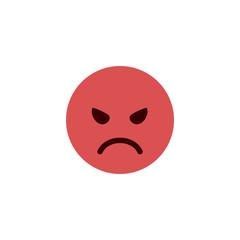 Angry flat emoji