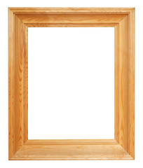 vertical simple wide brown wooden picture frame
