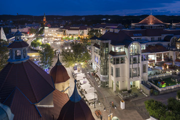 Night view of Sopot in Poland