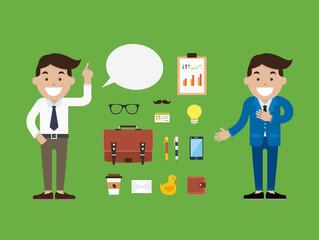 Character Businessman, Vector illustration