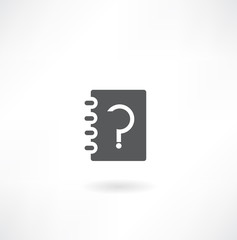 note pad with a question mark icon