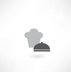 chef hat with dish icon