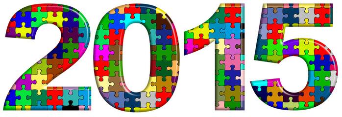 2015 puzzle couleur