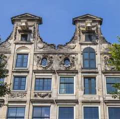 Amsterdam, Netherlands. A typical details of urban architectural