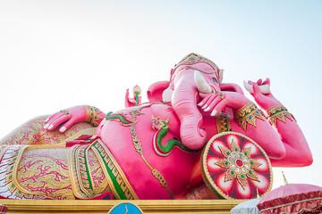 Pink Ganesha Statue at Saman Rattanaram Temple, Thailand