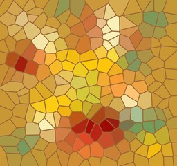 Mosaic background in autumn colors