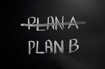 Plan B - chalkboard