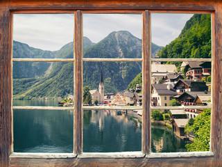 Fensterblick Hallstatt