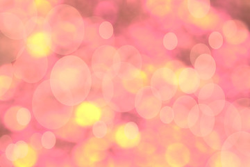 Defocused pink and yellow lights Abstract background