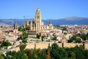 Santa Maria Cathedral of Segovia, Castilla Leon, Spain.