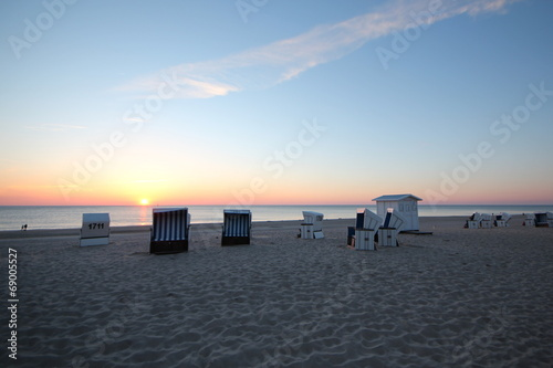 canvas print picture Abend am Meer
