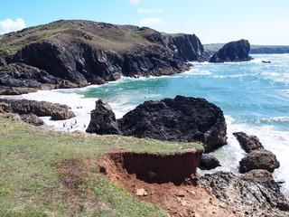 The Kynance Cove in Cornwall