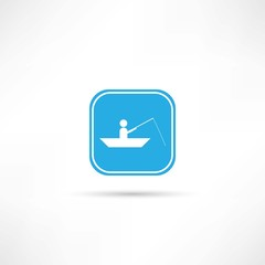 man in a boat icon