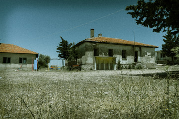 Abandoned house in the village. Toning. Turkey