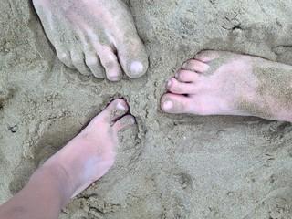 Piedi in spiaggia...