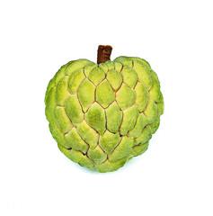 Custard apple fruit with white isolate background