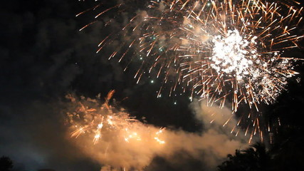 Set collection montage, Beautiful celebration fireworks