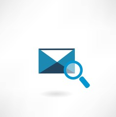 email icon with a magnifying glass